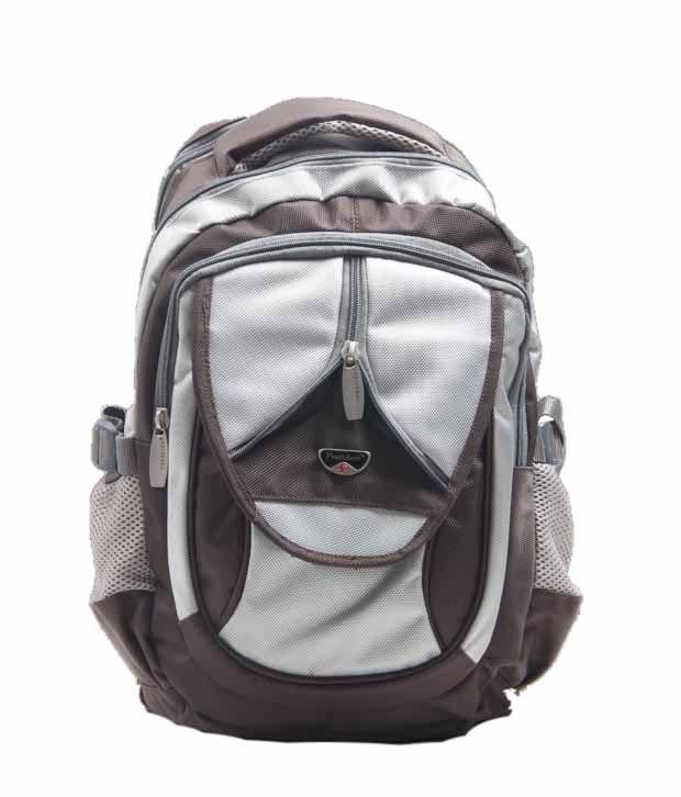 President Subtle Olive White Backpack