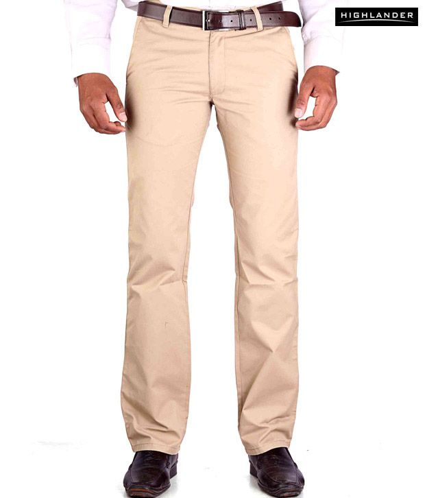 Highlander Khaki Casual Trouser HLTR002870
