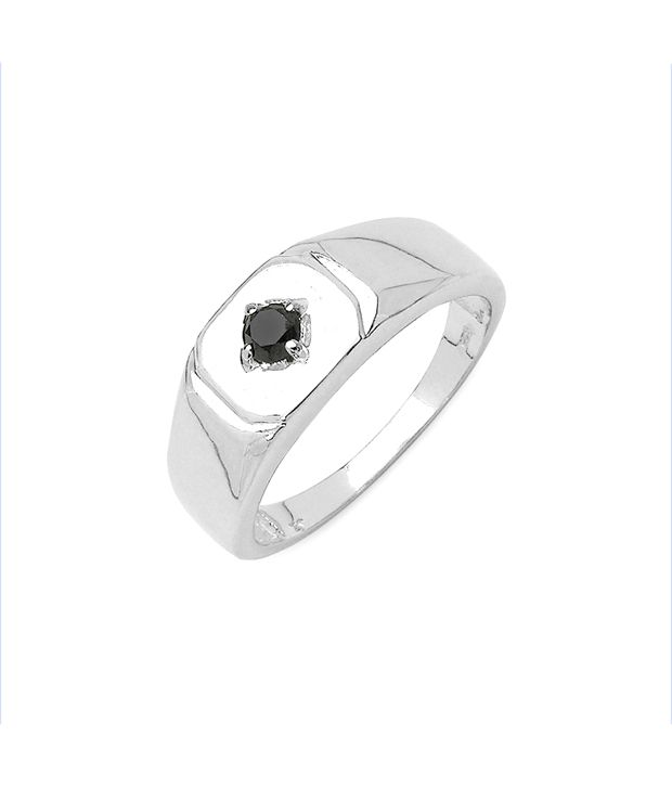 Johareez Black Diamond Men'S Love Ring