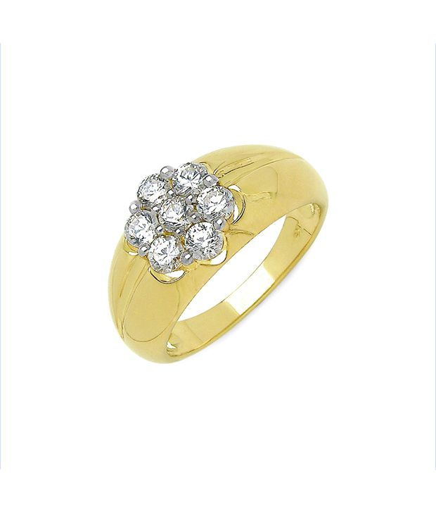 Johareez Cubic Zircon Party Ring For Men