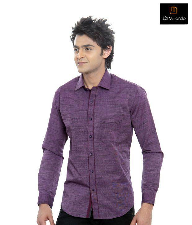 La Miliardo Mauve Shirt-1216/18-Mauve