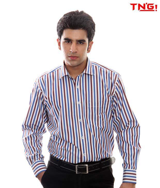 TN'G Broad Stripes Shirt-TFGN-9285-BL
