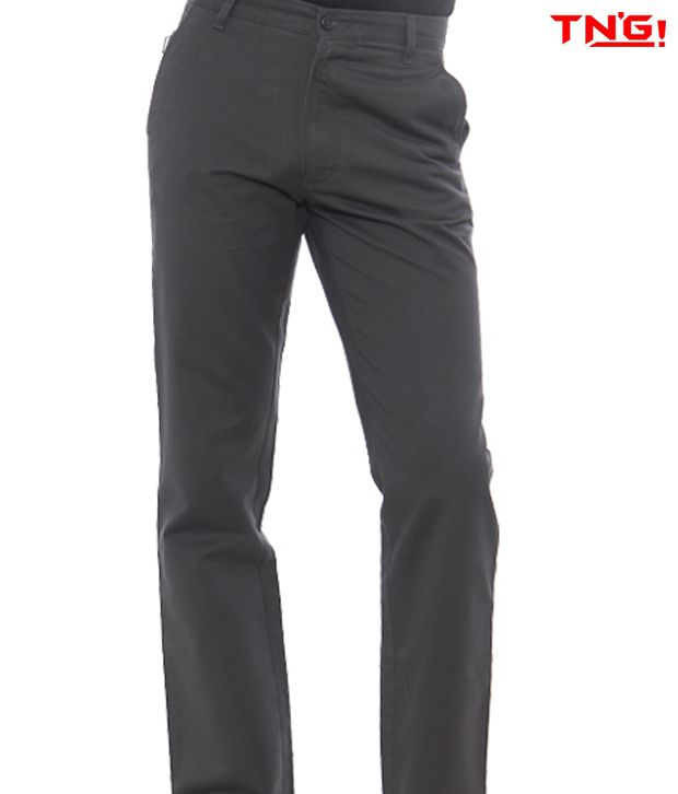 Tn'G Dark Grey Trousers- Tjgn-7774-Dgy