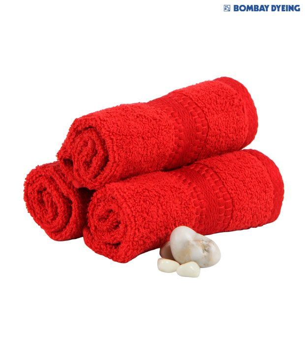 Bombay Dyeing Super Ultrax Red Face Towel Set