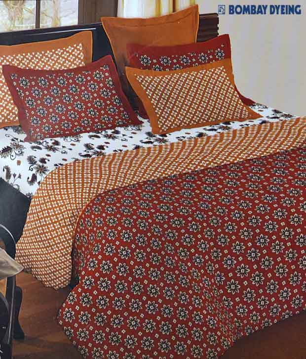 Bombay Dyeing Culture Chic Double Bed Sheet With 4 Pillow Covers