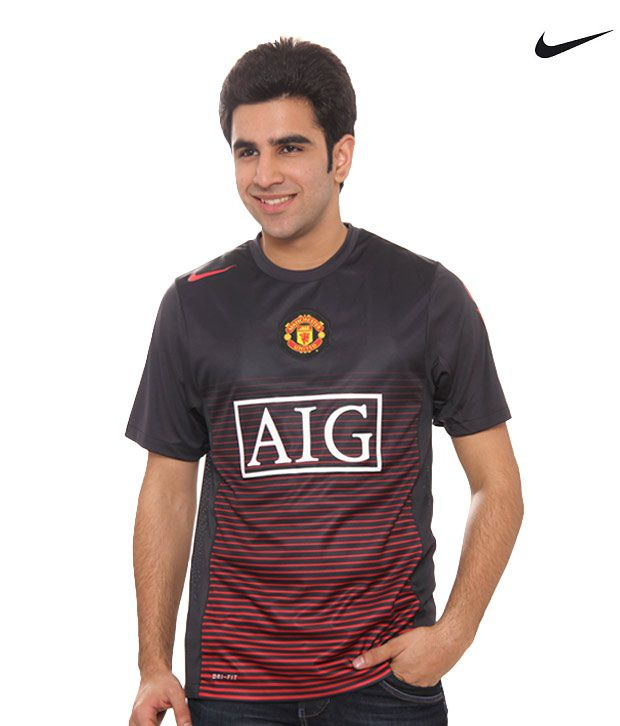 the latest ca516 0dd75 Nike Manchester United AIG Black T-Shirt (377419-010) - Buy ...