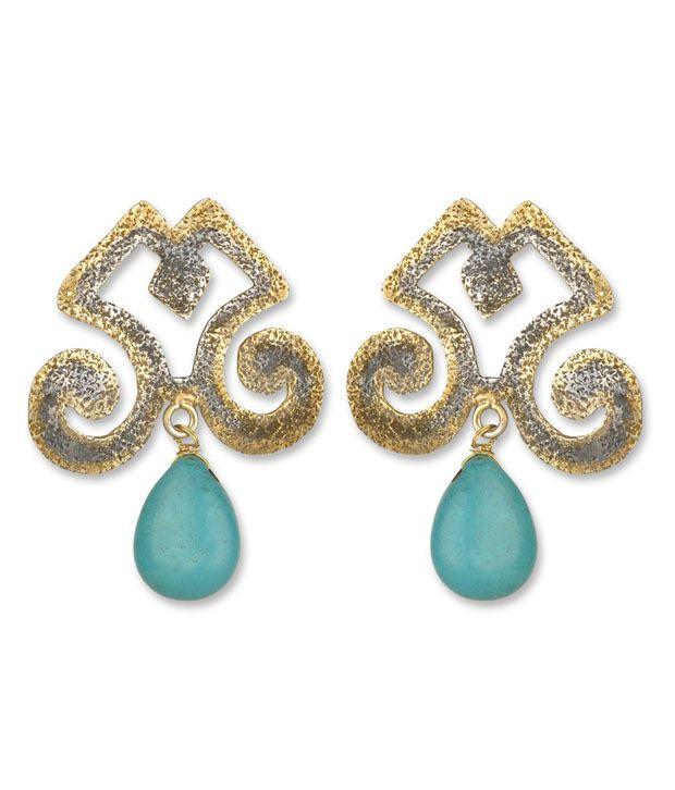 Silver Centrre Pretty Earrings