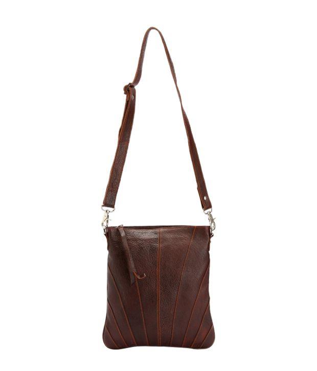 Tortoise Designer Dark Brown Satchel Bag