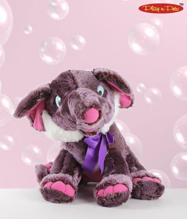 Play-n-Pets Sitting Elephant Soft Toy