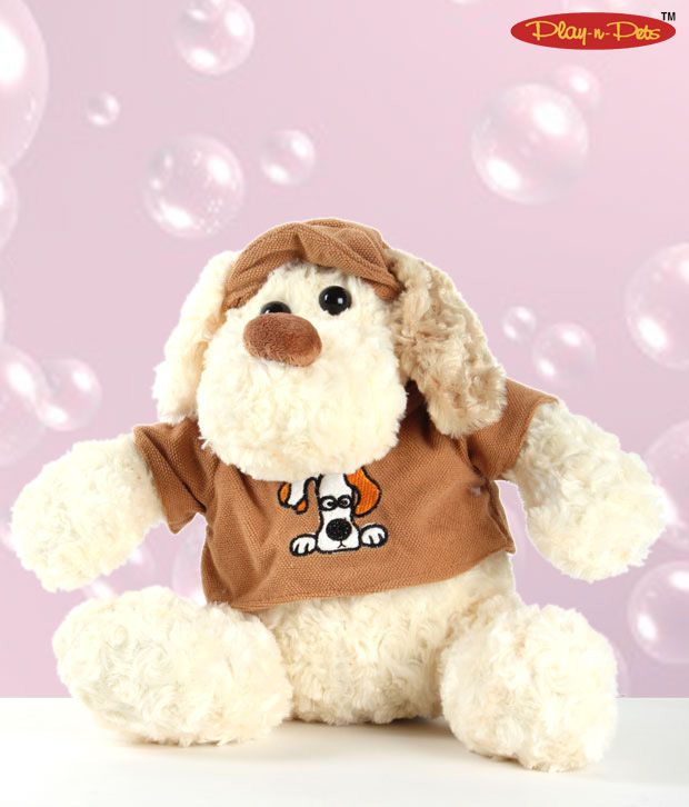 Play-n-Pets Cute Dog With Cap Soft Toy
