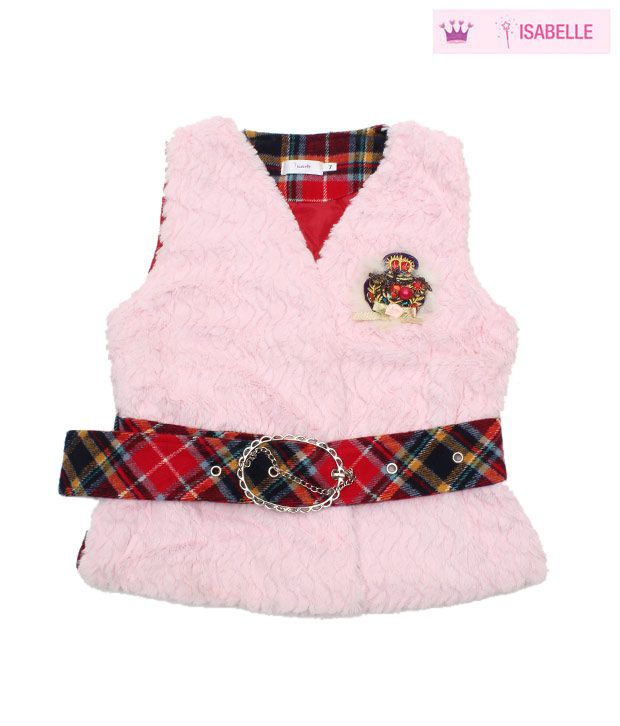 Isabelle Cute Light Pink Designer Jacket For Kids