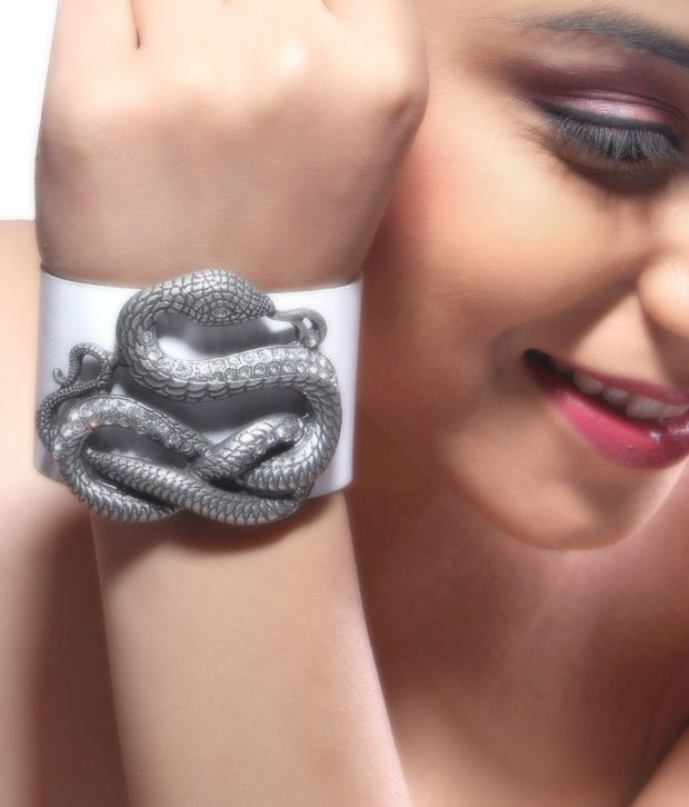 Bansri Infiniti Snake Leather Cuff
