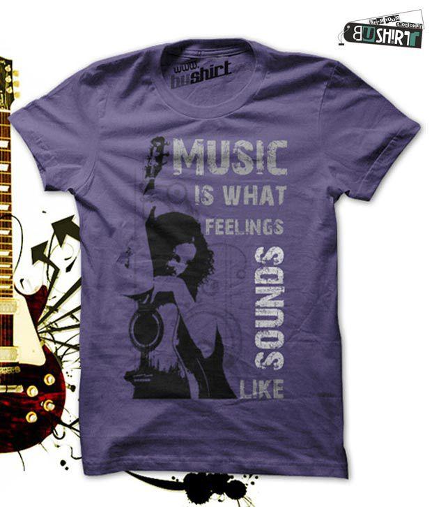 Bushirt Music Lovers Purple T-shirt