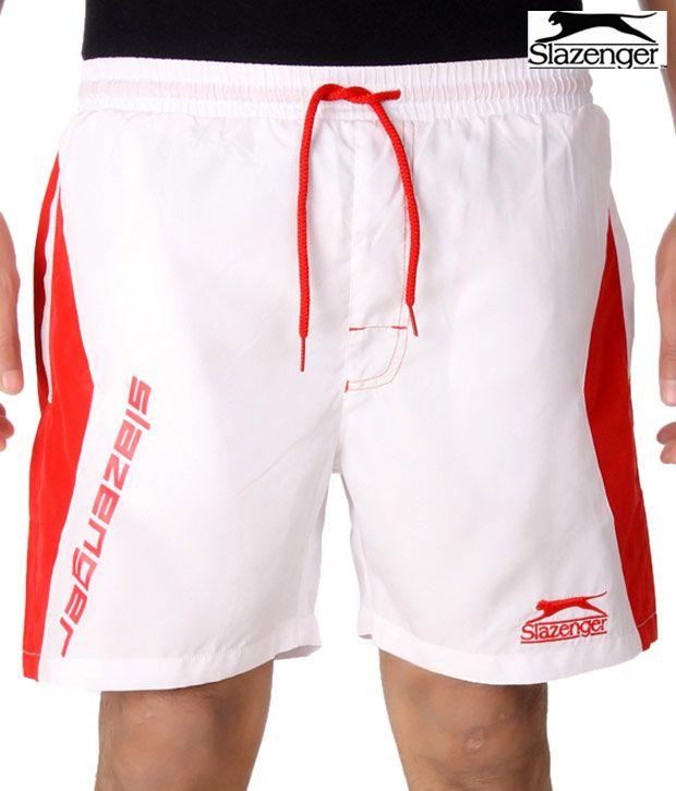 Slazenger White Shorts (SSMS004)