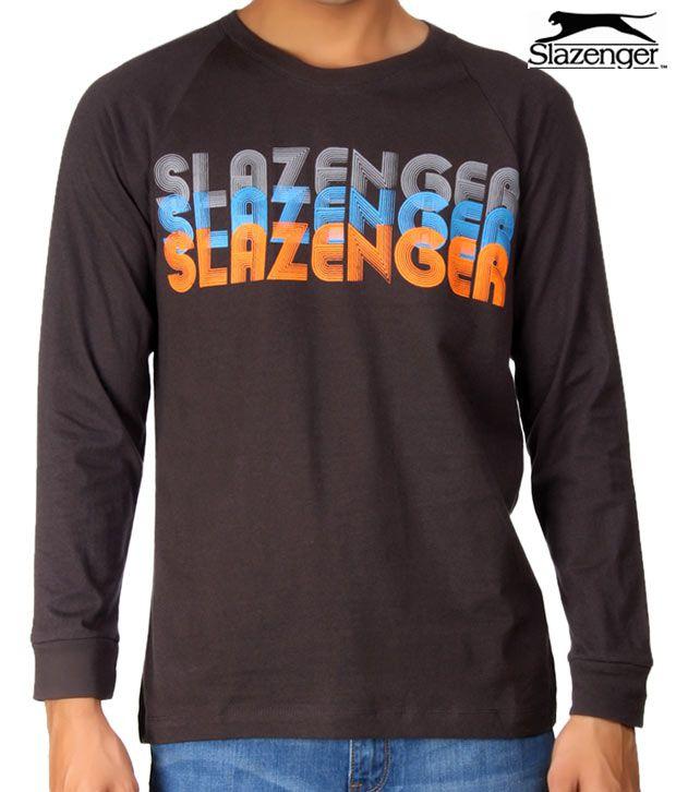Slazenger Charcoal T-Shirt (SWMF006)