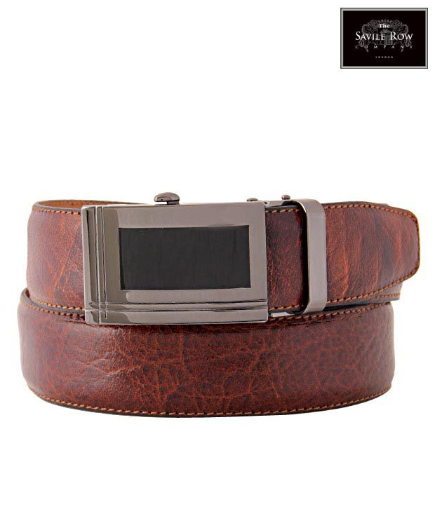 The Savile Row Ravishing Brown Textured Finish Belt