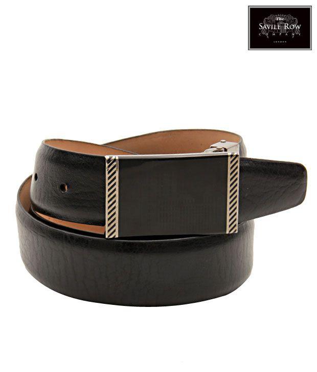 The Savile Row Wonderful Black Matte Finish Belt