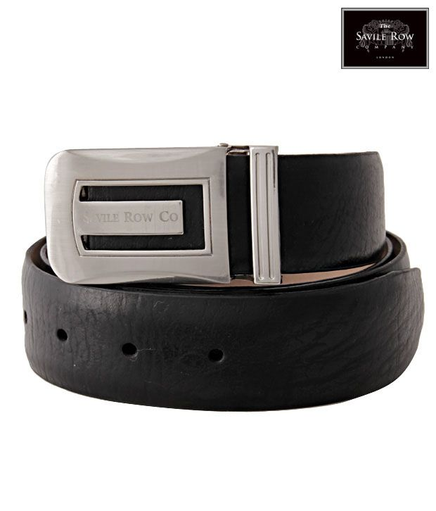 The Savile Row Special Black Matte Finish Belt