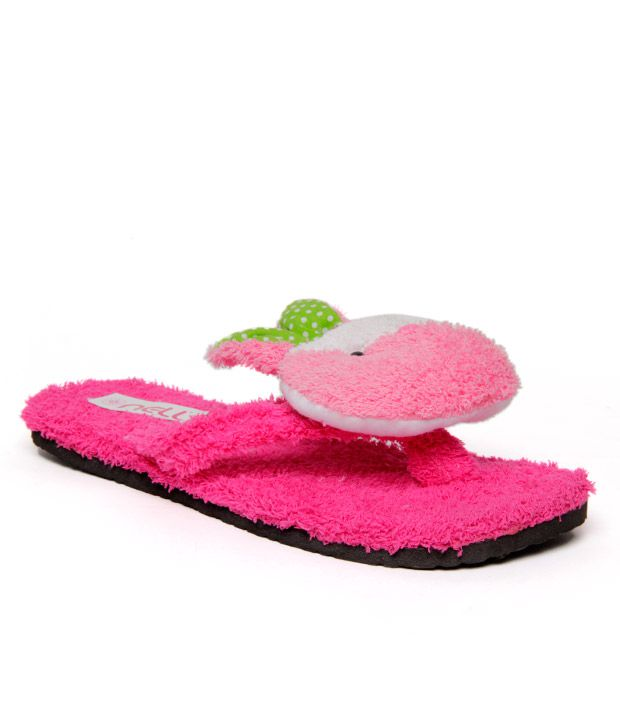 FNB-Nell Pink Fruit Slippers