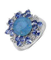 Johareez Opal & Tanzanite Sterling Silver Ring