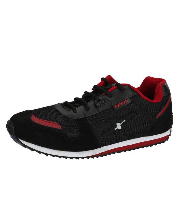 Sparx Red \u0026 Black Smart Casuals Shoes