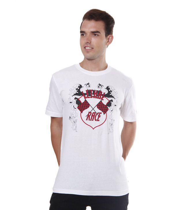 IMYOUNG Stylish White T-Shirt