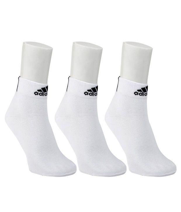 Adidas White Socks - 3 Pair Pack