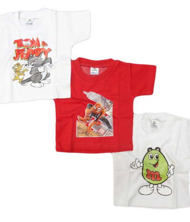 BBA Pack Of 3 Cool T-Shirts For Kids