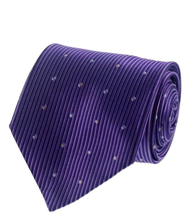 Van Heusen Purple Stripes Patterned Necktie