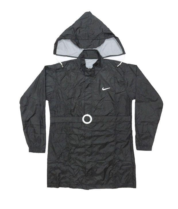Jazzup Monsoon Black Raincoat For Kids
