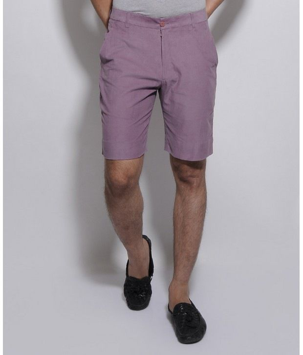 I Know Purple Corduroy Shorts
