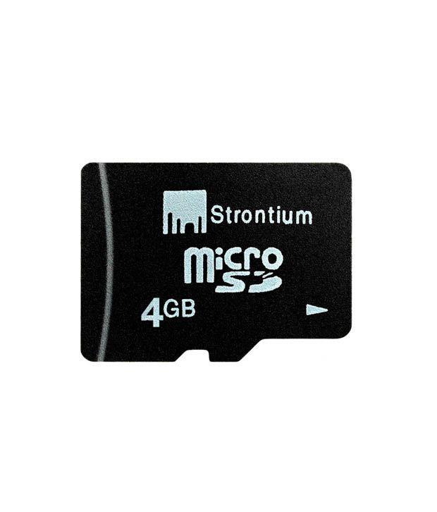 Strontium 4GB MicroSD + Free card reader