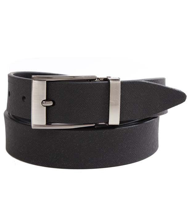 John Ledlie Slim Smart Black Textured Finish Belt