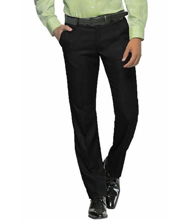 Peter England Trendy Black Smart Fit Trouser