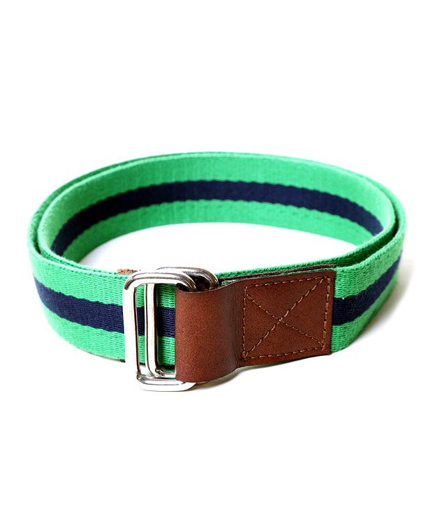 Lino Perros Green & Blue Striped Belt