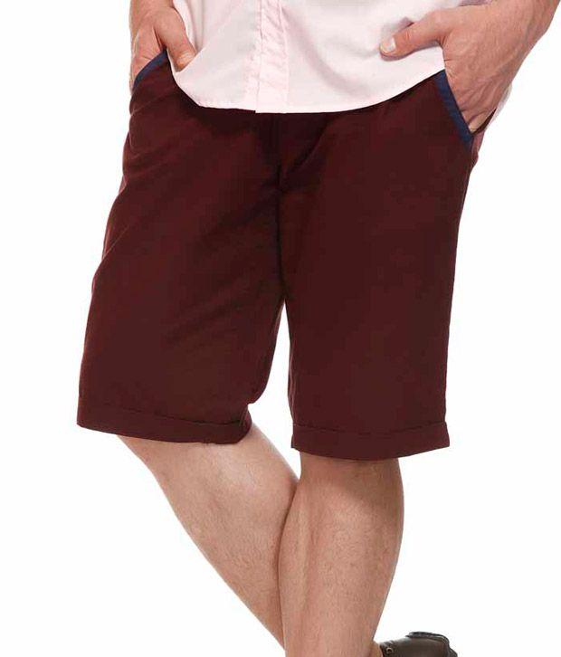 American Swan Maroon Shorts