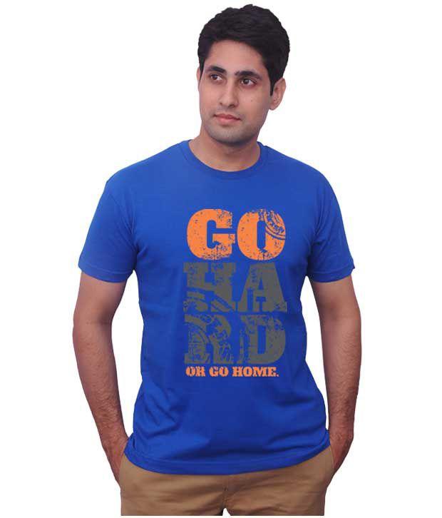 Inkovy Royal Blue Go Hard T-Shirt