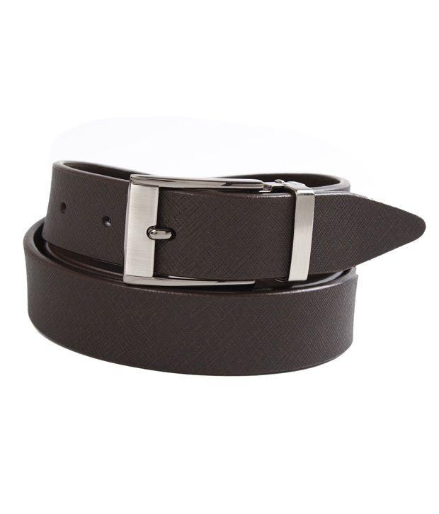 John Ledlie Slim Smart Brown Textured Finish Belt