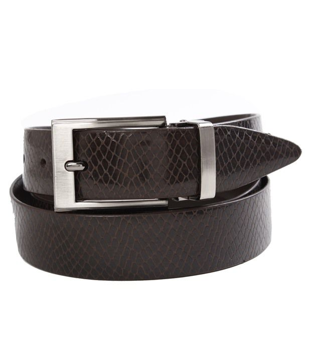 John Ledlie Slim Trendy Brown Snake Finish Belt