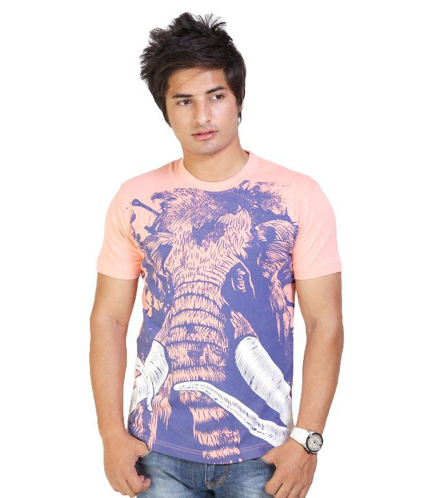 Monarch Elegant Peach Printed T Shirt