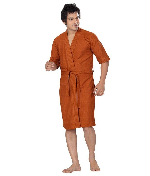 decfef3977 Sand Dune Rust Cotton Bath Robe - Buy Sand Dune Rust Cotton Bath Robe Online  at Low Price in India - Snapdeal
