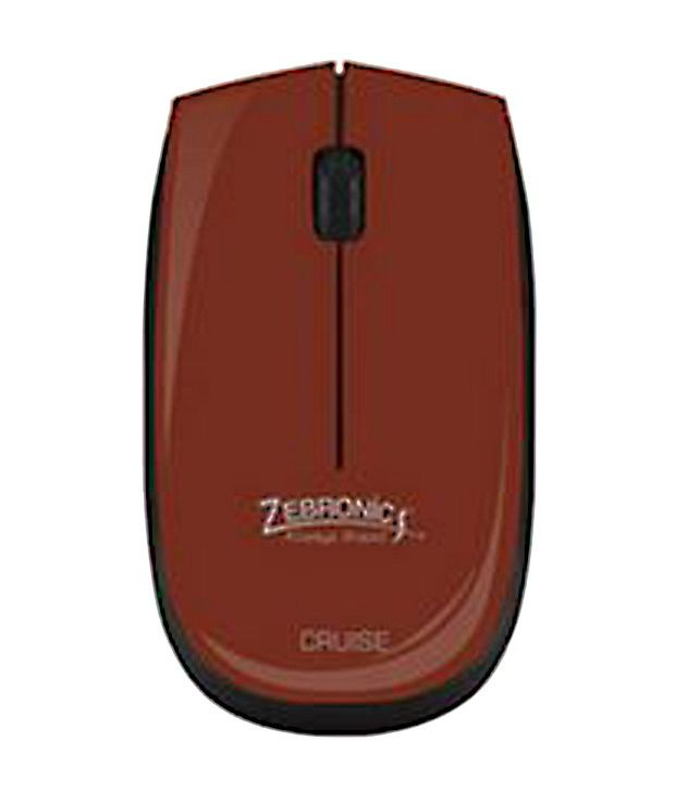 Zebronics 2.4ghz Wireless Optical Mouse (Cruise) Brown