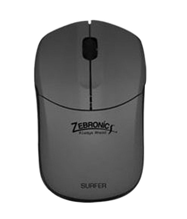 Zebronics 2.4ghz Wireless Optical Mouse (Surfer) Grey