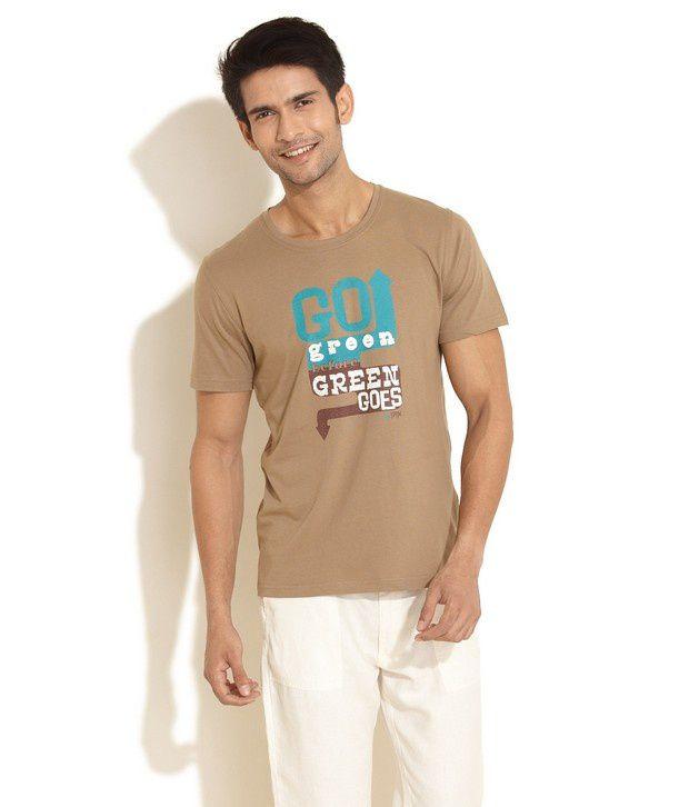 Urban Yoga Beige T-Shirt