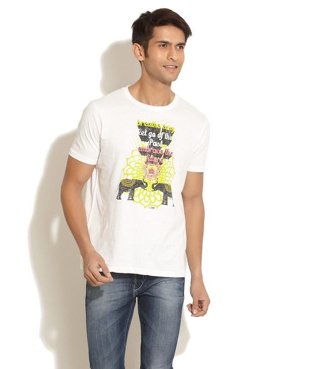 Urban Yoga Off White T-Shirt