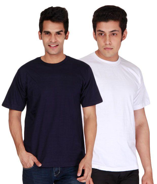 Days & Years Navy & White Pack of 2 T-Shirts