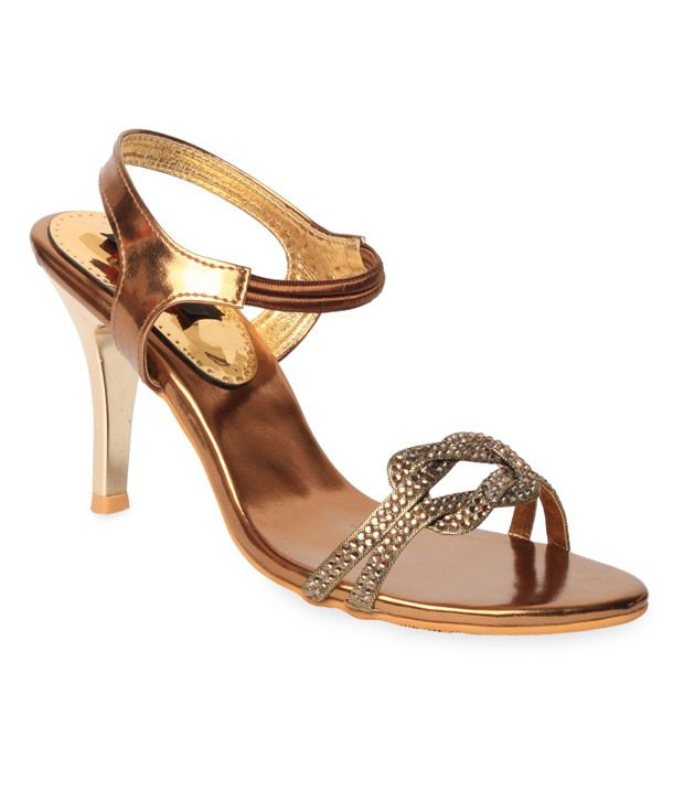 Bliss Engaging Copper Pencil Heel Sandals