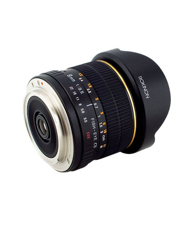 Rokinon FE8M-C 8 mm F3.5  Fisheye Lens for Canon - Black