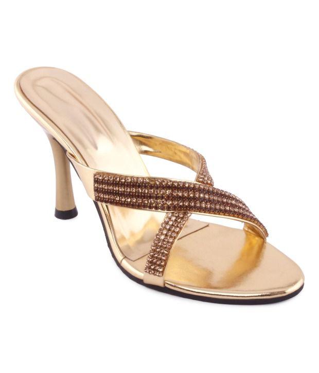 Kielz Fabulous Golden Slip-on heels