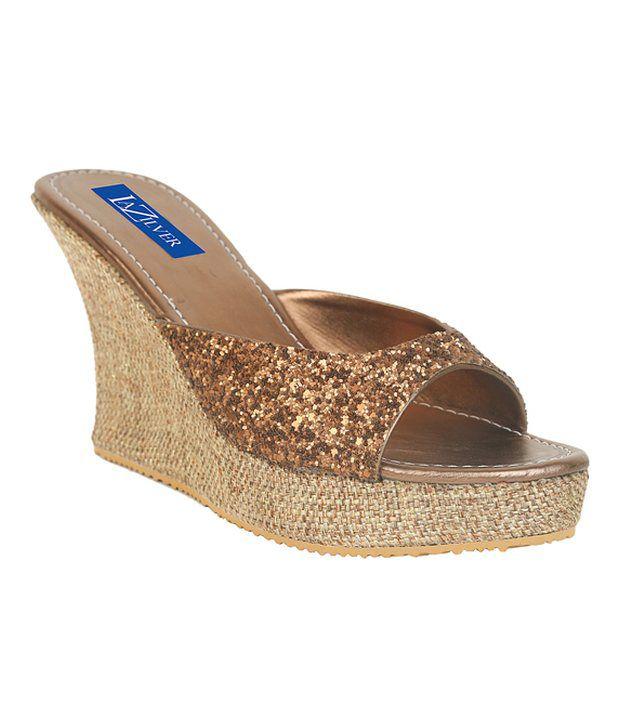 La Zilver Splendid Copper Slip-on Heels